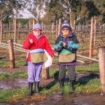 Aunty Pam and Mum, could not do it without them! Vineyard hands or babysitters as required!!